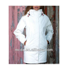 beautiful white long women down jacket