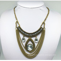 Glass Stone Anti Plating Chain Necklace (XJW13789)