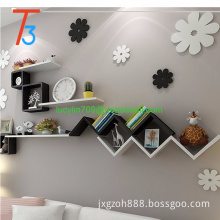 Pair of W Floating Wall Mount Shelf Storage Decoration Book CD Decoration Holder