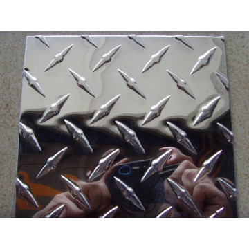 diamond bar aluminum checkered plate or coil with mirror surface