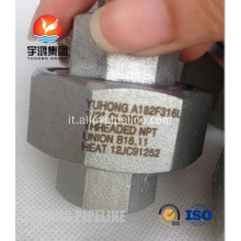 "A182 F316L 1/2 ""CL3000 unione NPT filettata B16.11"