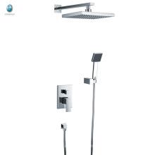 KI-01 Foshan Wand mit quadratischen Handbrause Bad einzigen Griff versteckte Dusche montiert