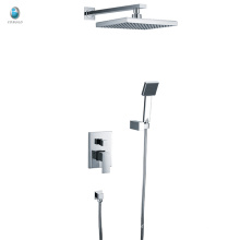 KI-01 foshan parede montada com chuveiro de mão quadrada chuveiro de banheiro único alça escondida
