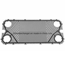 Placa de acero inoxidable del intercambiador de calor (igual M10B / M10M)