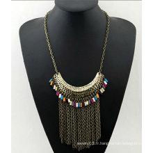 Les dernières longues glands colorées fashion women 2015 fine necklaces jewelry