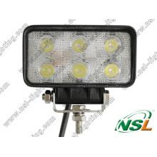 Lámpara de minería de luz de trabajo LED 18W, forma cuadrada (NSL-1806A-18W)