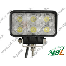 "4.5"" 18W Auto LED Working Light, 6 LED Driving Light for Offroad, ATV, 4x4"