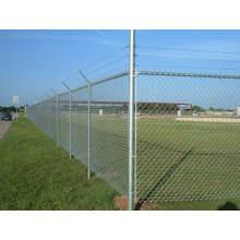 Cerca galvanizada del acoplamiento de cadena, usada para la puerta de la cerca, puertas de la granja,