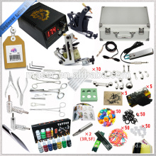 Hot Sale! Travel Case Complete Tattoo Kit, 2 Rotary Tattoo Machine Gun Tattoo Kit