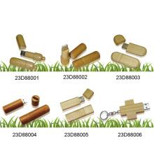 USB-Blitz-Scheibe mit hölzerner Abdeckung (23D88001)