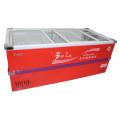 715L Раздвижная дверь Глубокий морозильный шкаф с морозильной камерой для супермаркета