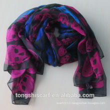 polyester printed infinity scarf 423-03 HD382