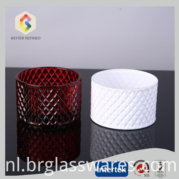 colored glass candle jars