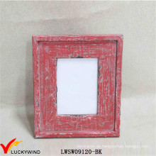 Chic Red Tisch Standing Distressed Photo Frames