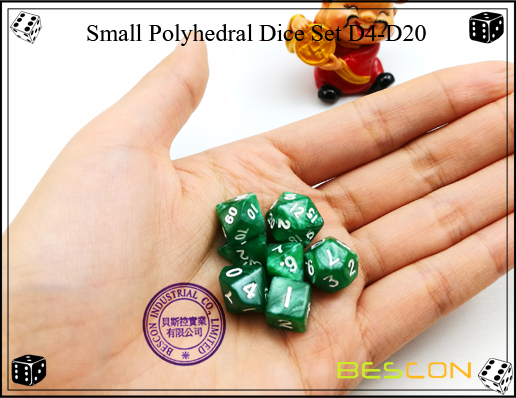 Small Polyhedral Dice Set D4-D20-2