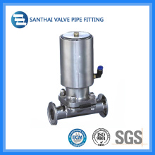 China Pneumatic Diaphragm Valve with Clamped End