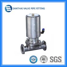 China Válvula pneumática de diafragma com extremidade apertada