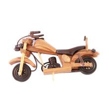 La marca de FQ suministra el juguete de madera del vehículo de la moto del arte de la decoración del arte