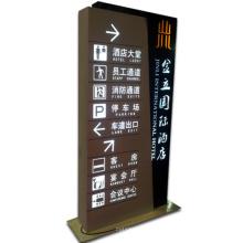 Indicador Lightbox con iluminación LED como señal publicitaria