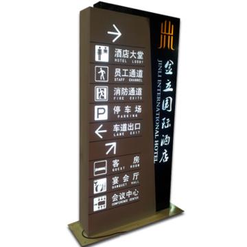 Lightbox de indicador com iluminação LED como sinal de publicidade