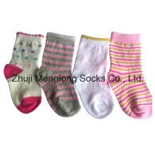Plein inspecté des chaussettes de coton de bébé de bonne qualité en Nylon recouvert de laine