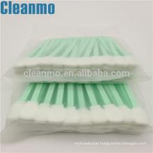 CM-FS708 Green Handle Cleanroom Foam Swabs Cleaning Electronics/LCD/PCB Lint Free Sponge Swab