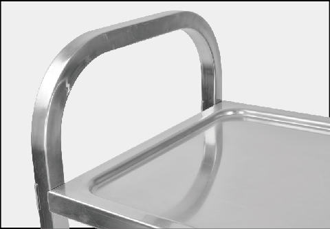 Stainless Steel Trolley with wheel