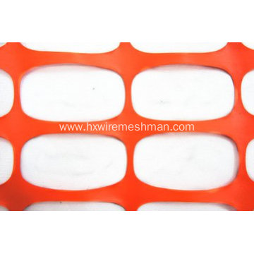 Plastic netting temporary safety fence