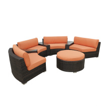 Outdoor PE Rattan Round Sofa Furniture Set