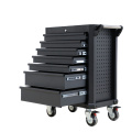 Black Metal Professional Tool Storage Solution
