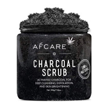 Wholesale Private Label Exfoliating Deep Cleansing Whitening Natural Organic Activated Bamboo Charcoal Face Body Scrub