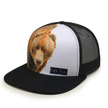 Fashion OEM Design  6 Panel Trucker Caps Custom Sublimation Print Mesh Hat