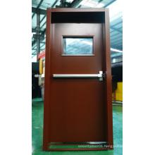 German/Turky New Style with Window Glass Fireproof Steel Door