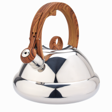 Woodlike softtouch Stainless steel stovetop tea kettle