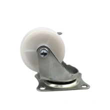 1.5 inch light duty flat plate side of the brake PP casters