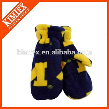 Wholesale fashion fleece mitten fleece mitten making