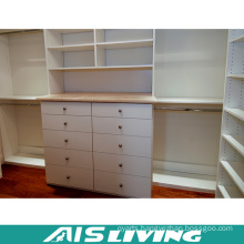 High End White Lacquer Walk in Wardrobe Closet (AIS-W372)
