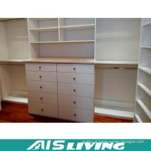Caminhada da laca branca da parte alta no armário do Wardrobe (AIS-W372)