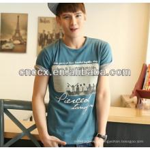 2014 mais recente novo design de algodão camisetas impressão