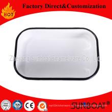 Sunboat Emaille Rechteckige Tablett / Emaille Butter Tablett
