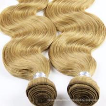 100% cheveux humains économie en gros cheveux en vrac de trame de cheveux faits à la main de trame