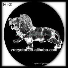 Leão de Cristal K9 Mão Esculpida