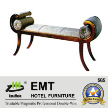 Einzigartiges Design Hotel Schlafzimmer Möbel Bett Hocker (EMT-BS04)