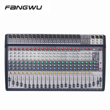Best Quality 24 Channel DSP Effect Audio Mixers Console With DAC Sound Card