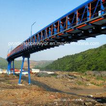 Tubular Belt Conveyor für Getreide, Seehafen, Bergbau, Strom, Chemie, Zement usw