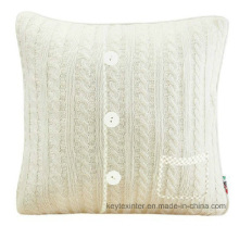 Acrylic Knit Buttons Cushion Cover Pillow Cover Pillowcase (C14106)