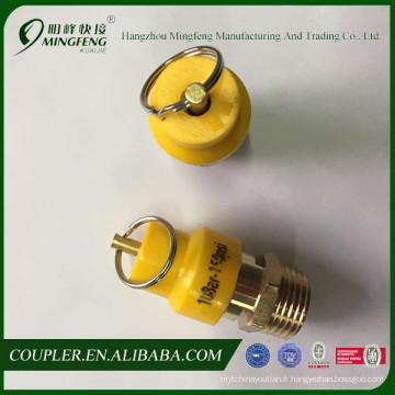 Soupape de sécurité de compresseur d'air pas cher en laiton 150PSI