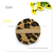 Горячие леопарда печати фонд слоеного различной формы