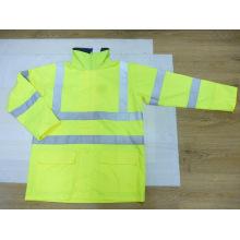 Легкий вес высокая видимость дождь куртка изготовлена из полиэстера Оксфорд