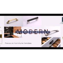 HJY furniture hardware acrylic pulls aluminium cabinet handle